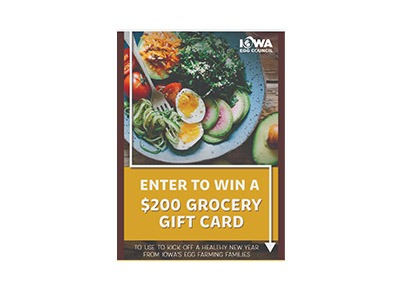 Iowa Egg Council Grocery Gift Card Giveaway