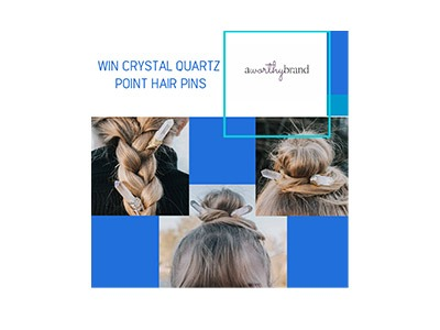Win A Set of Crystal Quartz Point Hair Pins