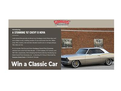 GoodGuys Classic Car Giveaway