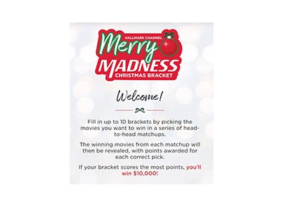 Hallmark Channel Christmas Bracket Sweepstakes