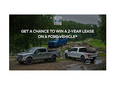 Win a Ford Vehicle 2 Year Lease