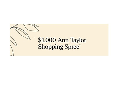 Ann Taylor Gift Card Giveaway