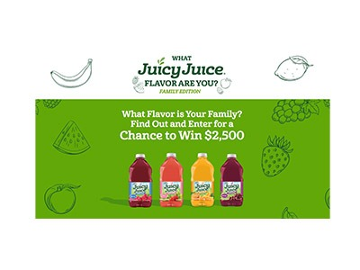 Juicy Juice What Flavor Are You Sweepstakes