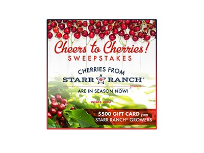 Farmstar Cheers to Cherries Cash Sweepstakes