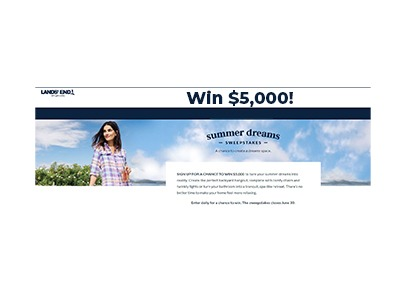 Lands' End Summer Dreams $5,000 Cash Sweepstakes
