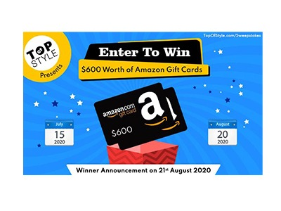 Topofstyle Amazon Gift Card Giveaway