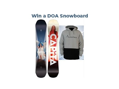 Win a DOA Snowboard