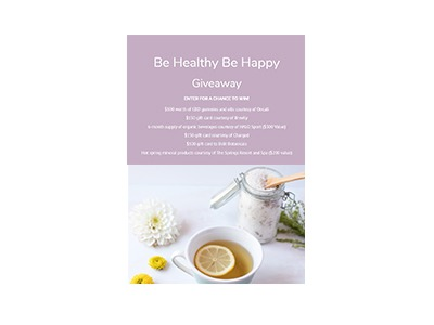 Be Happy be Healthy Giveaway