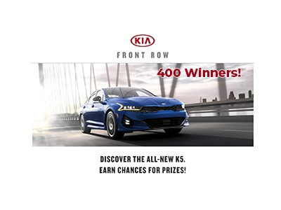 Kia Front Row K5 Launch Giveaway