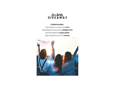 Live Boldly Giveaway