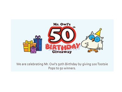 Mr Owl's 50th Birthday Giveaway