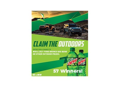 Mtn Dew Claim the Outdoors sweepstakes