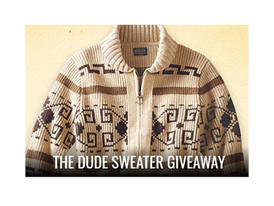 The Big Lebowski Sweater Sweepstakes