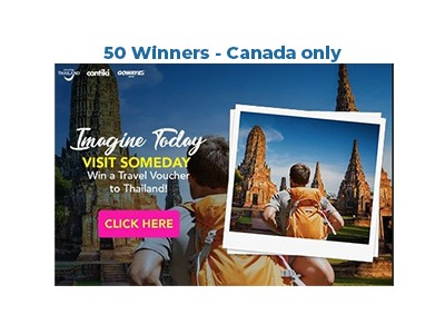Win a Travel Voucher to Experience Amazing Thailand