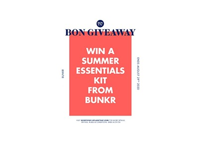 Win summer essentials kit from BUNKR