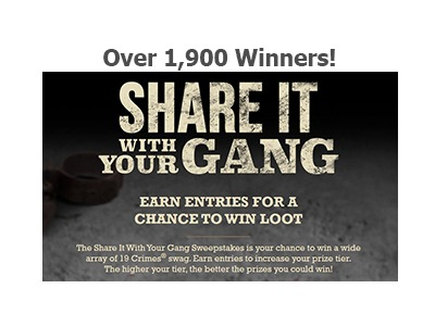 19 Crimes Share It With Your Gang Sweepstakes