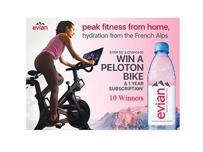 Evian the peak fitness from home sweepstakes