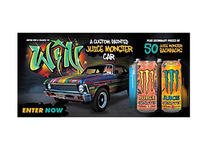 Monster Energy Custom Painted Car Sweepstakes
