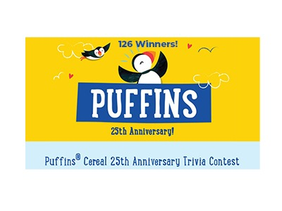 Puffins Cereal 25th Anniversary Trivia Contest