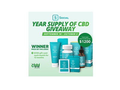 Social CBD Year Supply Of CBD Giveaway