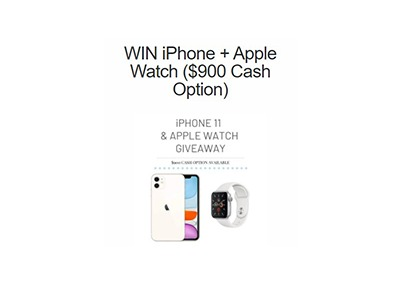 Apple iPhone 11 + Apple Watch Giveaway – Ends Oct 11th