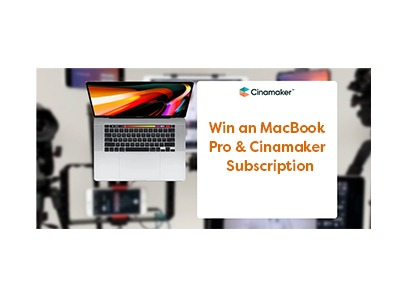 Win a Macbook Pro and Cinamaker Subscription