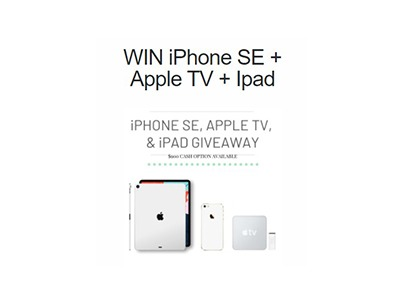 Win an iPhone SE + Apple TV + iPad