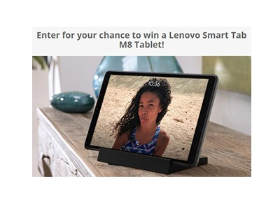 Win a Lenovo Smart Tab M8 Tablet
