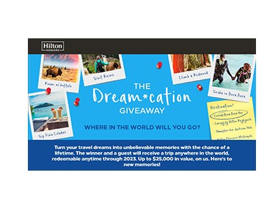 Hilton Honors Dream-cation Giveaway