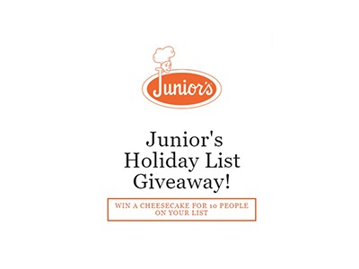 Junior's Holiday List Giveaway
