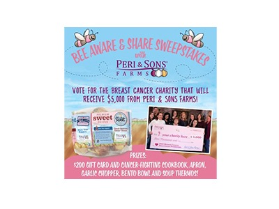 Peri & Sons Farms Bee Aware & Share Sweepstakes
