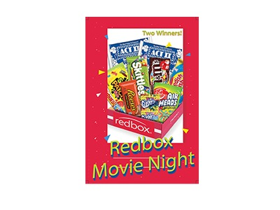We are giving Two Winners a Redbox Movie Night Care Package