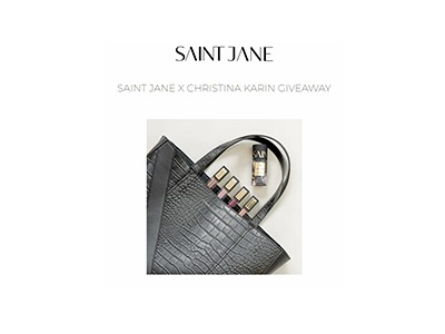 SAINT JANE X CHRISTINA KARIN GIVEAWAY