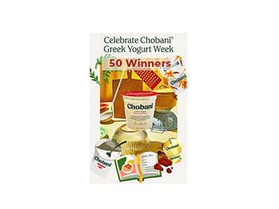 Win a Chobani Greek Yogurt Week Cookbook