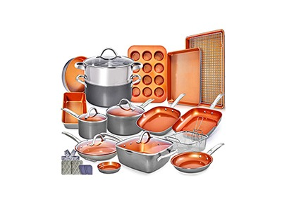 23pc Copper Cookware Set Giveaway
