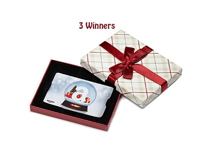 Win an Amazon Gift Card in a Holiday Box