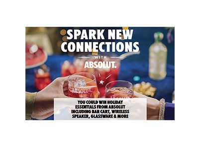 Absolut Vodka Holiday Sweepstakes
