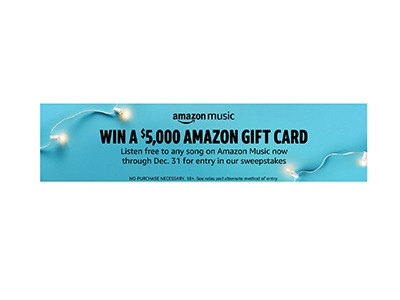 Amazon Listen to Win $5k Sweepstakes