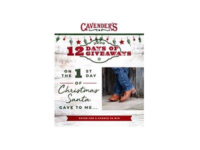 Cavender's 12 Days of Giveaways