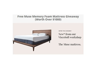 Muse Memory Foam Mattress Giveaway