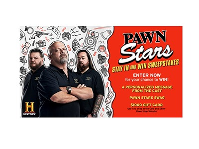 Pawn Stars Stay In and Win Sweepstakes