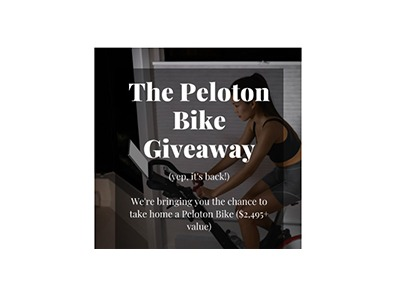 Honeycomb Peloton Bike Giveaway