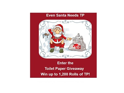 Even Santa Claus Needs Toilet Paper Giveaway
