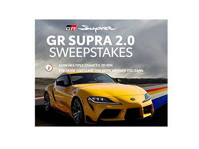 Toyota GR Supra 2.0 Sweepstakes