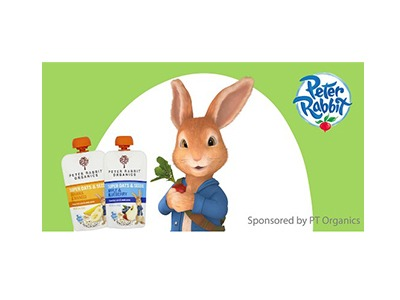 Win a Year of free Peter Rabbit Organics Pouches