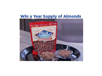 Win A Year Supply of Blue Diamond Almonds