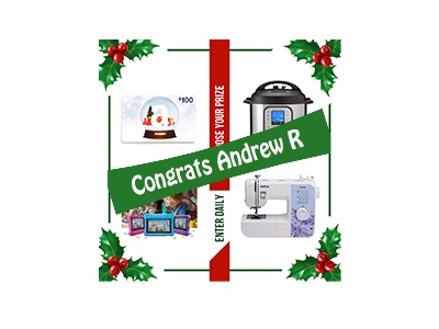 Winner Choose Your Prize Holiday Giveaway 2020