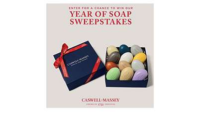 Caswell-Massey Year of Soap Sweepstakes