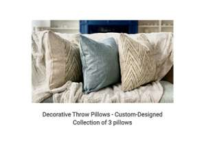 Design Theory Interiors of California Decorative Pillows Giveaway