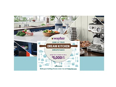Food Network Wayfair Dream Kitchen Sweepstakes